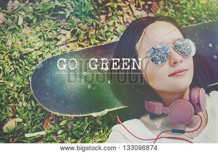 Go Green Environmental Conservation Earth Concept
