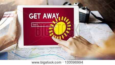 Get Away Vacation Adventure Travel Trip Concept