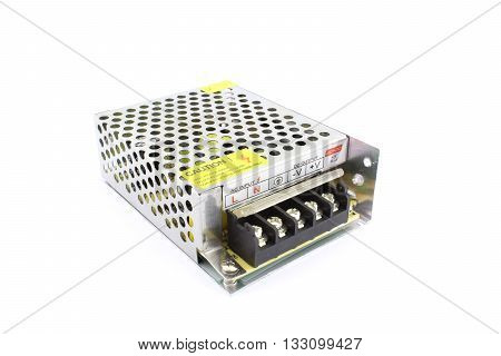 SMPS power supply, isolated on white background