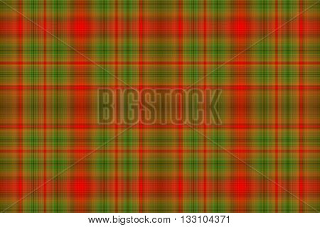 Illustration of dark green and red checkered pattern