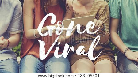 Gone Viral Social Media Networking Connection Sharing Concept
