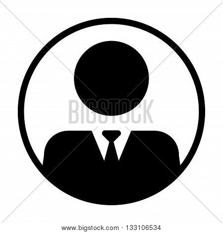 User Icon - Man, Profile, Businessman, Manager, Customer, Client Flat Color User Icon in glyph vector illustration