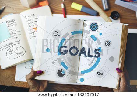 Goals Mission Target Hud Aspiration Concept
