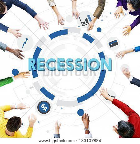 Recession Bankrupt Economic Analysis Finance Concept