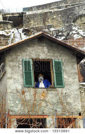 vinedresser's hut in a vineyard