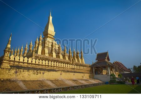 Wat Phra That Luang - landmark of Lao PDR in Vientiane