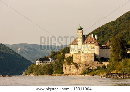Palace Schonbuhel on the Danube river, Lower Austria, Austria