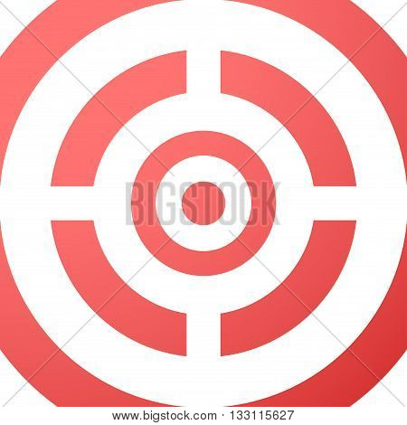 Target closeup red vector background. Illustration eps10.