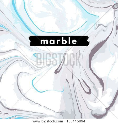 Marble background. Retro package template marbling texture. Marbled print in minimalism style. Trend layout, art print.