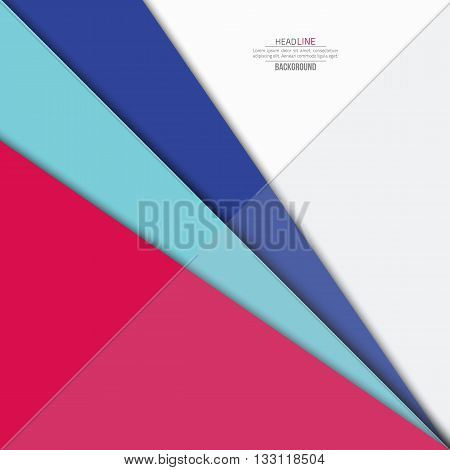 Material design background. Flat design layout. Material design for interface. Fashion background . Material design concept. Pink background