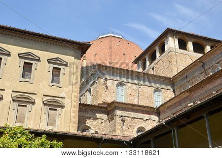 Hidden corners of Florence - The cloister of St Lawrence - Tuscany - Italy