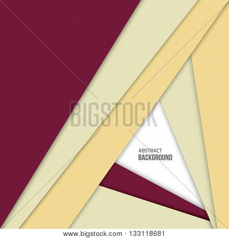 Material design background. Flat design layout. Abstract shape material design. Vector flat background. Fashion violet background