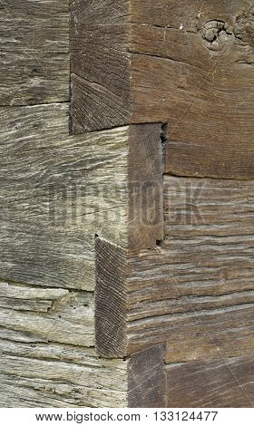 Wooden Wall Corner Vintage Planks