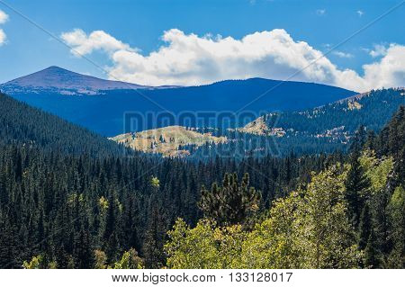 Mount Evans overlooking the beautiful Colorado Mountains