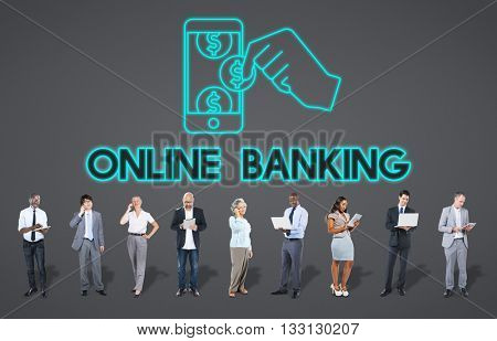 Online Banking Computer System E-banking Concept