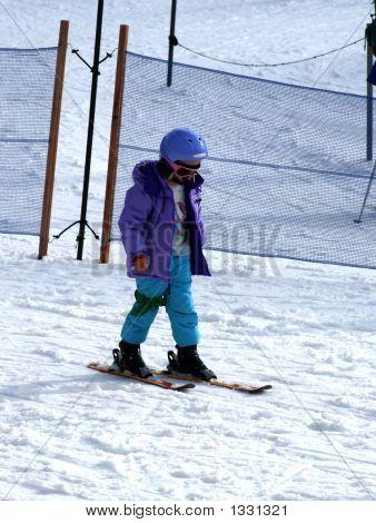 Girl And Ski