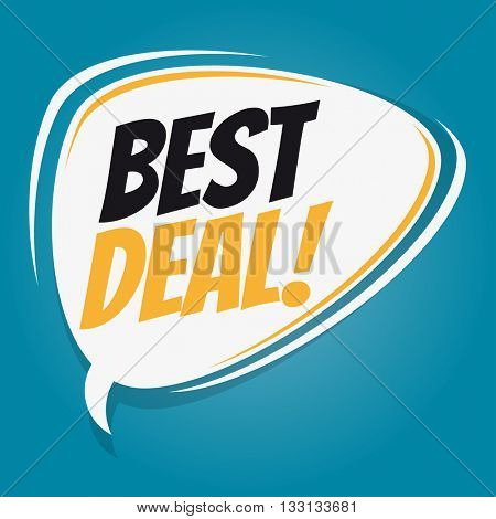 best deal retro cartoon speech bubble
