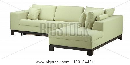 Sofa Isolated On White.