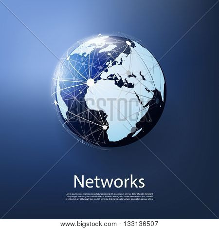 Global Networks - Creative Design Illustration for Your Business