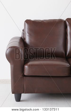 Brown Leather Sofa The Wall