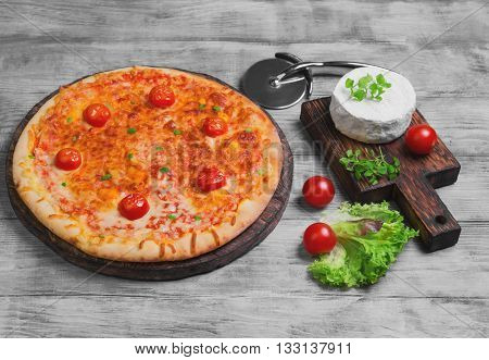Pizza Margarita Food Photo