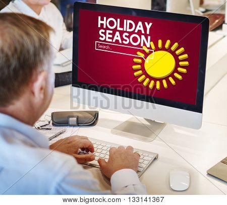 Holiday Season Travel Vacation Concept