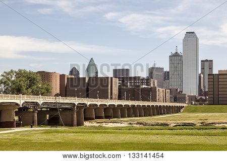 The Continental Avenue Pedestrian Bridge over the Trinity River in Dallas Texas United States
