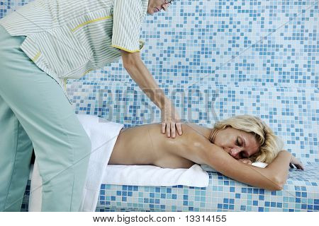 Woman Relaxing At Spa And Wellness