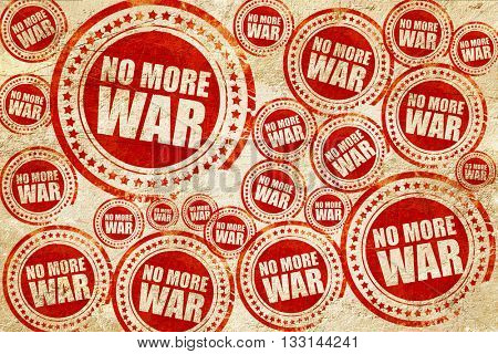 no more war, red stamp on a grunge paper texture