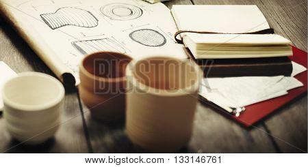 Porcelain Ceramic Design Create Craft Concept