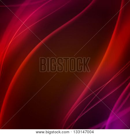 Red Abstract background with glow effect. Motion graphic effect. Creative futuristic wave.