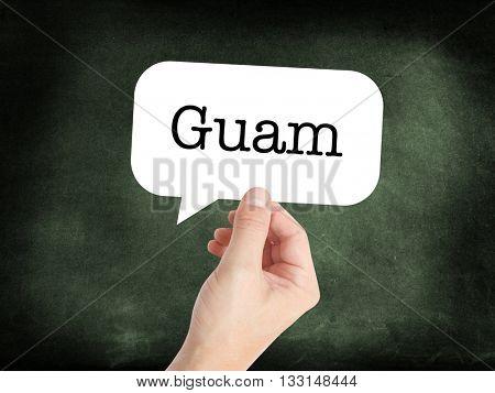 Guam concept in a speech bubble