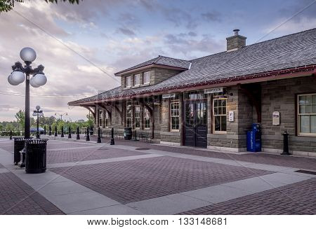CALGARY, CANADA - MAY 29: Old train station at Calgary's living museum