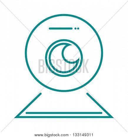 Web camera vector illustration
