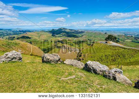 View from Te Mata Peak Hawkes Bay New Zealand