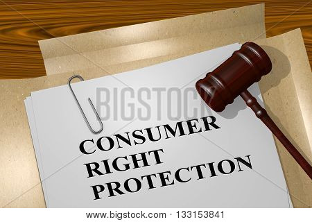 Consumer Right Protection Legal Concept
