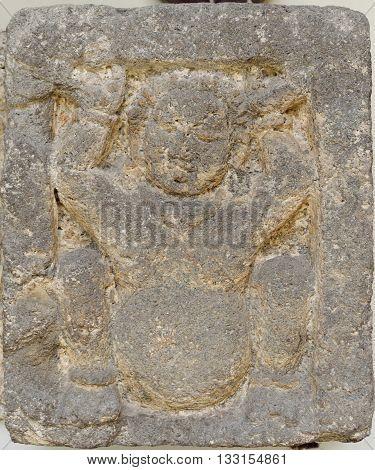 Gana Dwarf Figure Relief 8 - 10th century