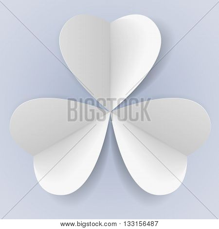 Three paper hearts in form of trefoil