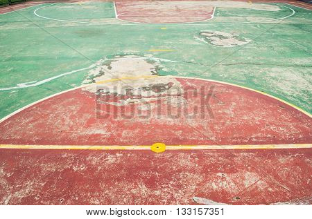 Basketball Court is not clean old adn shabby
