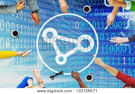 Connection Join Link Network Access Social Bond Concept