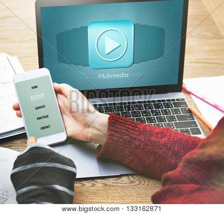 Multimedia Audio Computer Digital Entertainment Concept