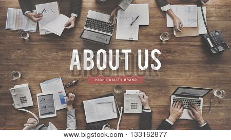About Us Details Contact Data Info Communication Concept