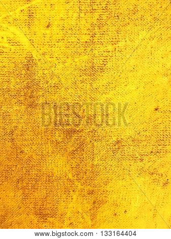 Grunge Yellow Textured Abstract Hand Painted Background