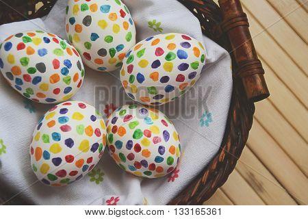 Easter Eggs Matte Sunny Blur Colorful Dots 2