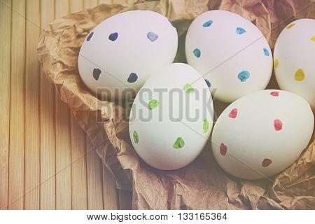 Easter Eggs Matte Trendy Blur Spring Time 3
