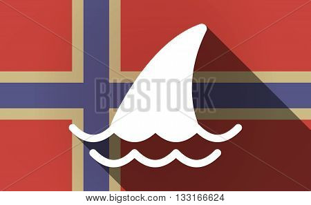 Long Shadow Norway Flag With A Shark Fin