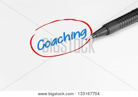 Coaching Text - Business Concept