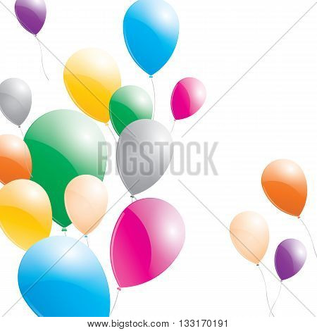 Balloons. Balloons on a white background. Multicolored balloons.
