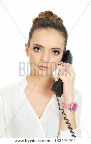 Businesswoman With Telephone