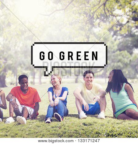 Go Green Environmental Conservation Earth Concept